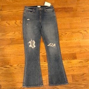 Brand new Mother Denim distressed jeans